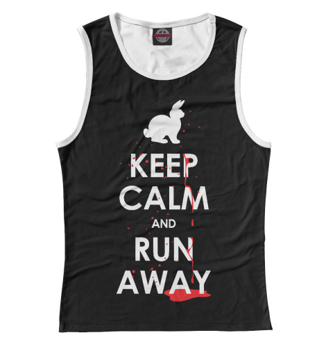 Майка Print Bar Keep Calm & Run Away футболка wearcraft premium printio keep calm art