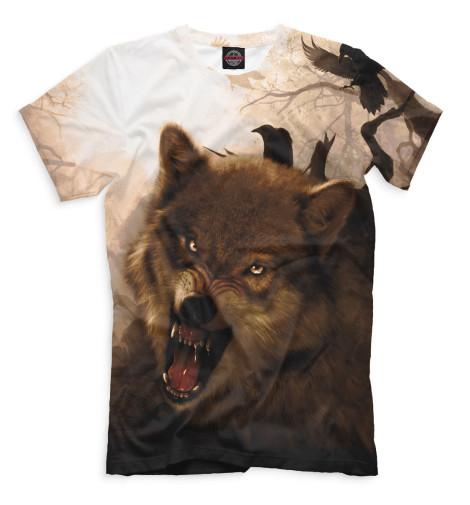 Купить Мужская футболка Волк VLF-516134-fut-2