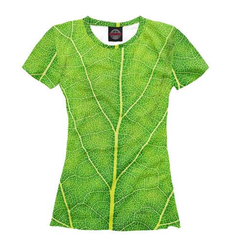 Женская футболка Лист