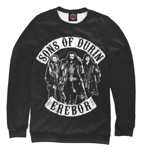 Свитшот Print Bar Sons Of Durin футболка print bar sons of durin