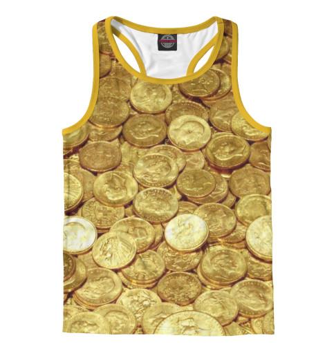 Майка борцовка Print Bar Золотые монеты монеты в сургуте я продаю