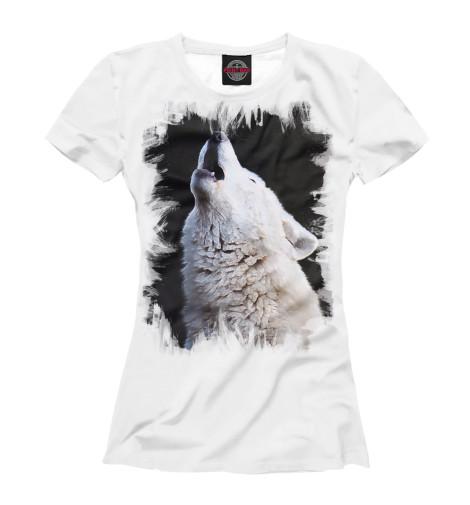 Футболка Print Bar белый волк