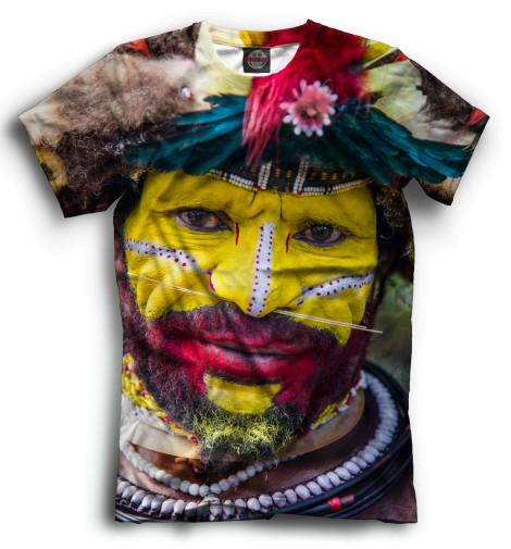 Мужская футболка Новогвинеец