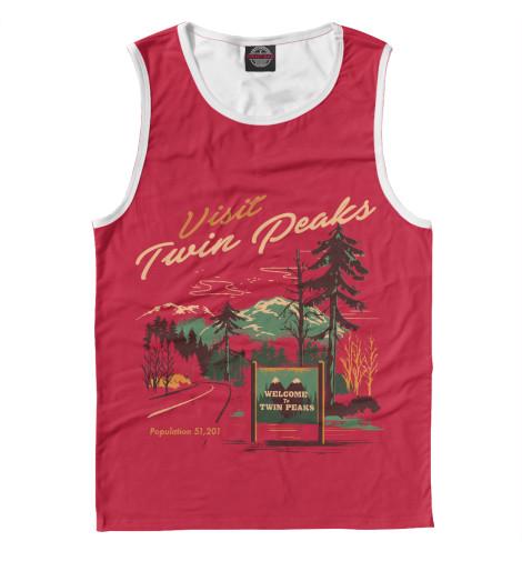 Майка Print Bar Visit Twin Peaks майка борцовка print bar damn good twin peaks