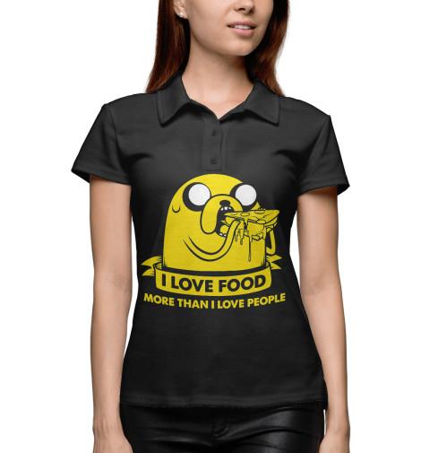 цены Поло Print Bar Джейк Пес - I love food