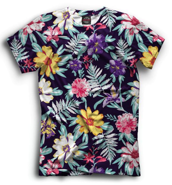 Купить Мужская футболка Цветы CVE-506550-fut-2