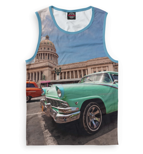 Майка Print Bar Автомобили на Кубе
