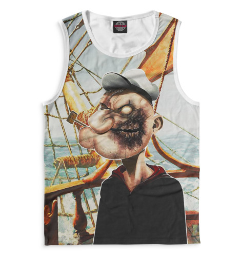 Майка Print Bar Моряк Попай толстовка wearcraft premium унисекс printio моряк попай popeye the sailor