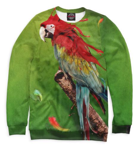 Женский свитшот Попугай
