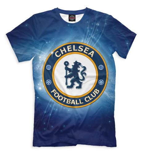 Мужская футболка Челси герб и звёзды