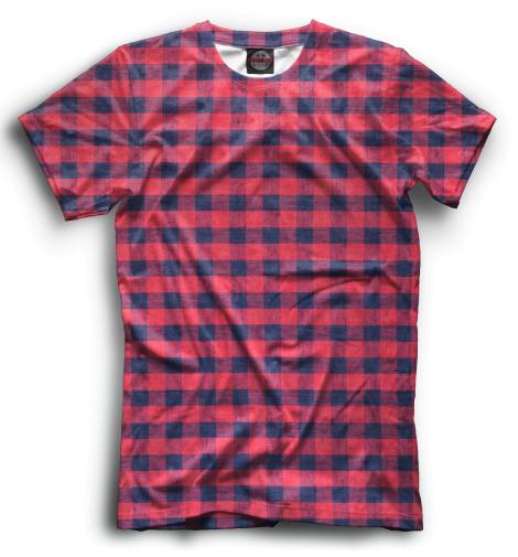 Мужская футболка Клетка
