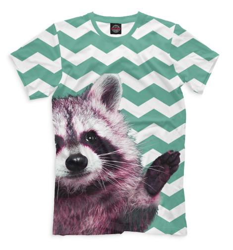 Мужская футболка Енот