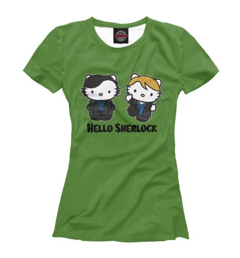 Футболка Print Bar Hello Sherlock бутылочка для кормления happy baby с ручками и силиконовой соской baby bottle lilac 10008 широкое горлышко 250 мл