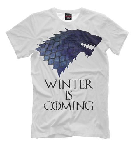 Фото - Мужская футболка Winter Is Coming от Print Bar белого цвета