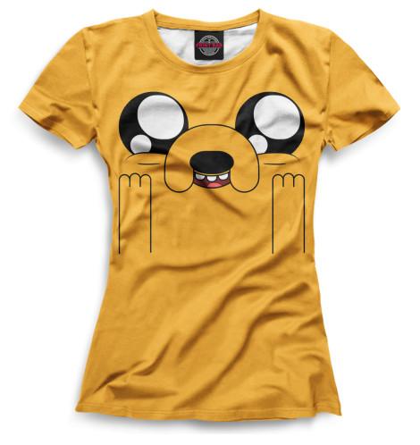 Женская футболка ДжейкВсе футболки изготавливаются в Москве на нашем производстве и на 100% состоят из высококачественного материала microfibre. Благодаря этому, качество изображения на футболке получается наиболее ярким и насыщенным и выдерживает любое количество стирок.<br><br>Размер INT: 2XS,XS,S,M,L,XL,XXL,XXXL,4XL,5XL,104,110,116,122,128,134,140,146,152,158<br>Цвет: Белый<br>Пол: Женский<br>Материал: Хлопок