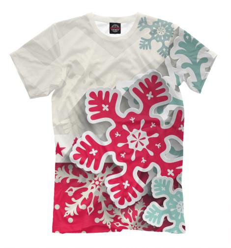 Купить Мужская футболка Снежинки NOV-386836-fut-2