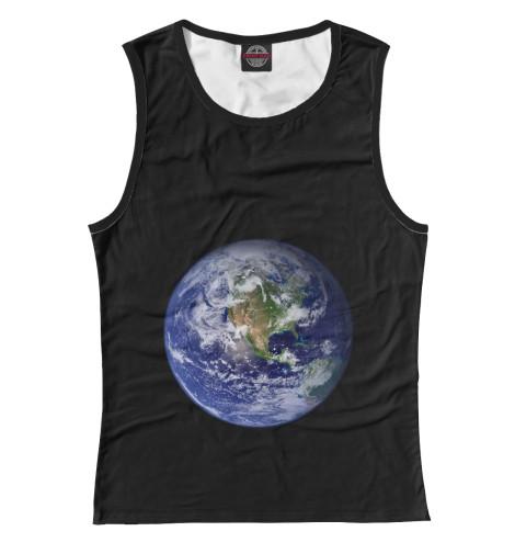 Майка Print Bar Планета Земля самая одинокая планета
