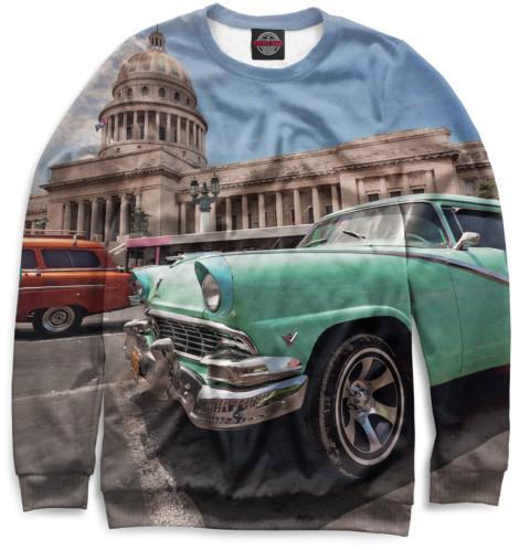 Женский свитшот Автомобили на Кубе