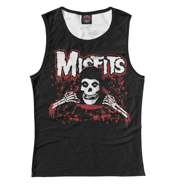 Купить Женская майка Misfits dead in blood MZK-239230-may-1