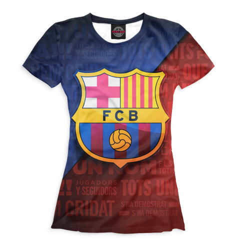 Женская футболка FCB кричалки