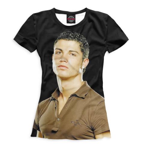 Женская футболка Роналду