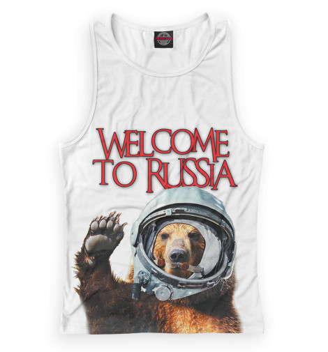 цена на Майка борцовка Print Bar Welcome to Russia