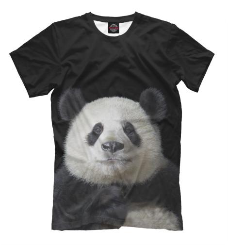 Фото - Мужская футболка Панда от Print Bar белого цвета