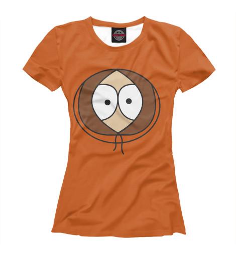 Фото - Женская футболка Кенни Маккормик от Print Bar белого цвета
