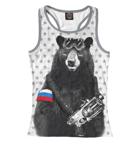 Майка борцовка Print Bar Армейский медведь
