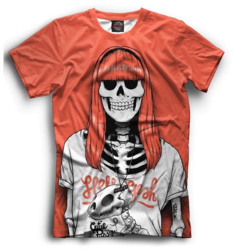 Мужская футболка Скелет