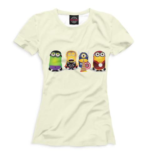 Женская футболка Миньоны