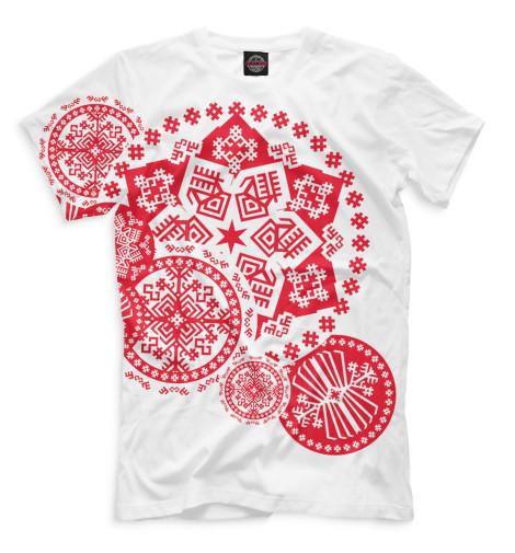 Мужская футболка Снежинка