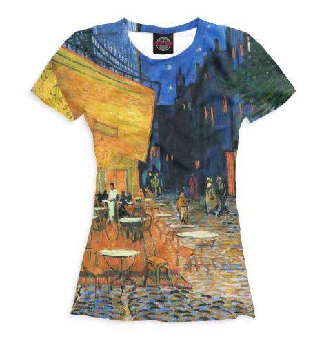 Женская футболка Ночная терасса кафе