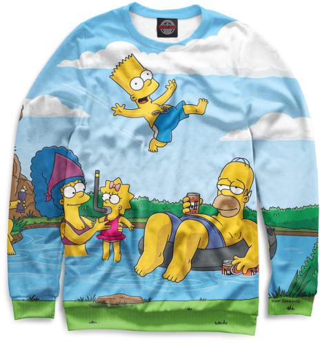 Мужской свитшот Симпсоны