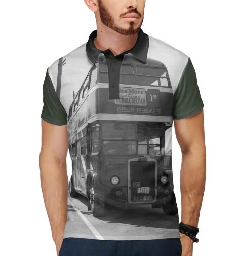 Поло Print Bar Англия. Лондон. Автобус. восток и запад англия и лондон страна жемчуга