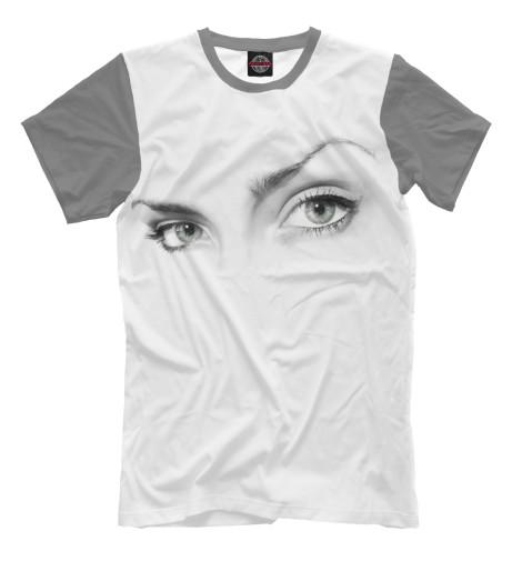 Фото - Мужская футболка Взгляд девушки от Print Bar белого цвета