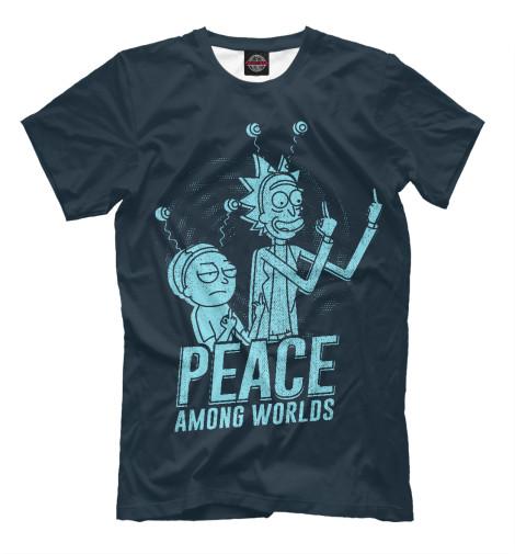 Мужская футболка Peace among worlds! RNM-100661-fut-2  - купить со скидкой