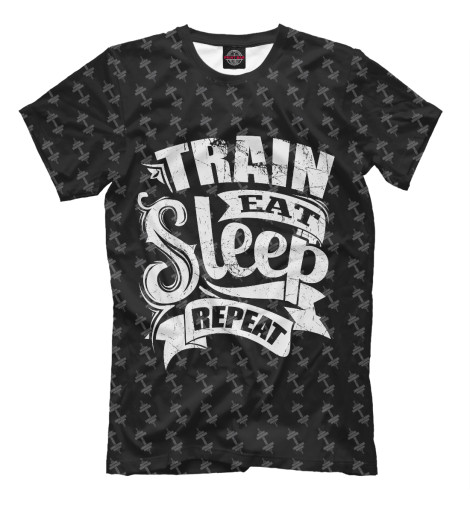 Футболка Print Bar Train Eat Sleep Repeat майка print bar train eat sleep repeat