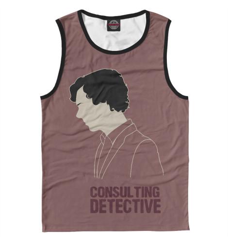 Майка Print Bar Consulting Detective detective cross