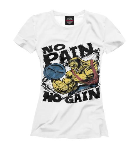 Футболка Print Bar No pain - No gain футболка wearcraft premium slim fit printio gym no pain no gain