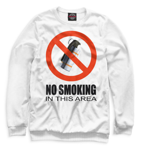 Мужской свитшот No Smoking In This Area Print Bar COU-758754-swi