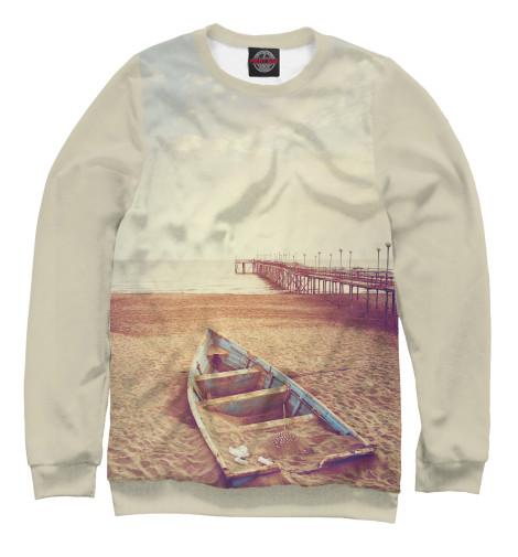 Женский свитшот Лодка на песке
