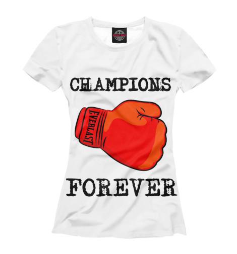 Футболка Print Bar Champions breakfast for champions