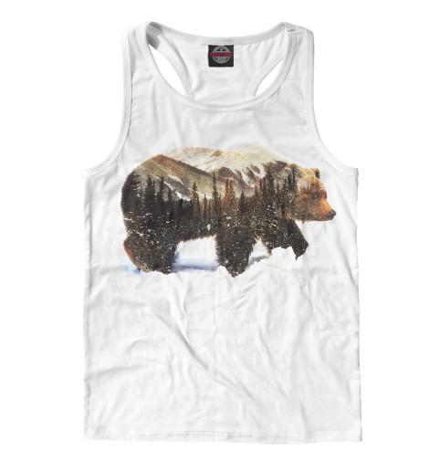 Майка борцовка Print Bar Медведь майка борцовка print bar бурый медведь