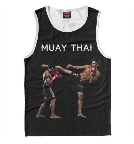 Майка Print Bar Муай Тай китайская школа боевых искусств самозащита муай тай