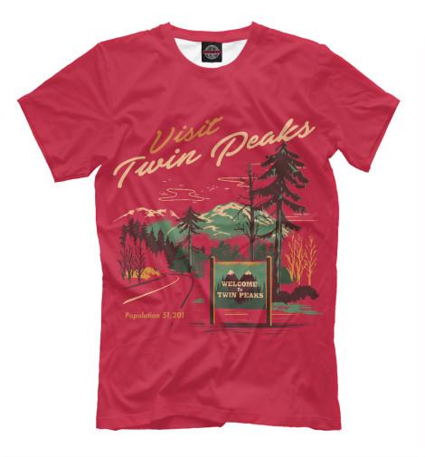 Футболка Print Bar Visit Twin Peaks майка борцовка print bar damn good twin peaks