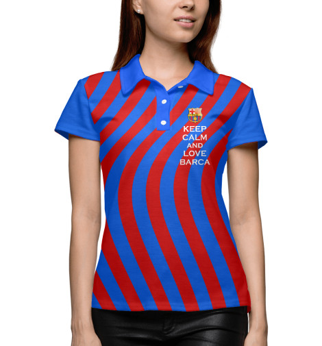 Поло Print Bar Keep Calm and Love Barca футболка wearcraft premium printio keep calm and manezhka green