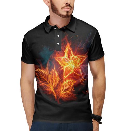 Поло Print Bar Огненный цветок огненный меч верт