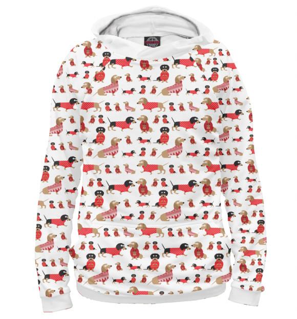 Купить Худи для девочки Таксы зимние DOG-383172-hud-1