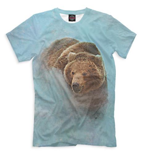 Мужская футболка Медведь в тумане